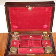 Rosewood Writing Box ; Sewing Box