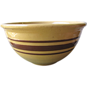 Brown Banded Mixing Bowl