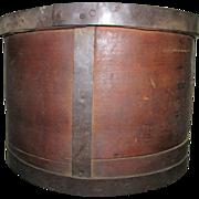 Large Wooden Measure : Bucket : Pantry Box