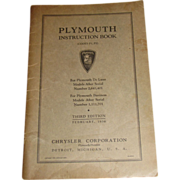 1936 Plymouth Owners Manual