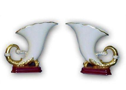 Pair of Tebor Cornucopia Vases
