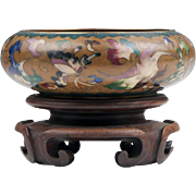 Vintage Robert Kuo Chinese Style Cloisonne Bowl