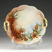 Limoges Hand Painted Cake Plate