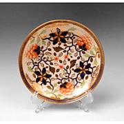Early 19th C. English Soft Paste Porcelain Saucer, Imari Palette