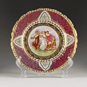 Classical Royal Vienna Style Cabinet Plate