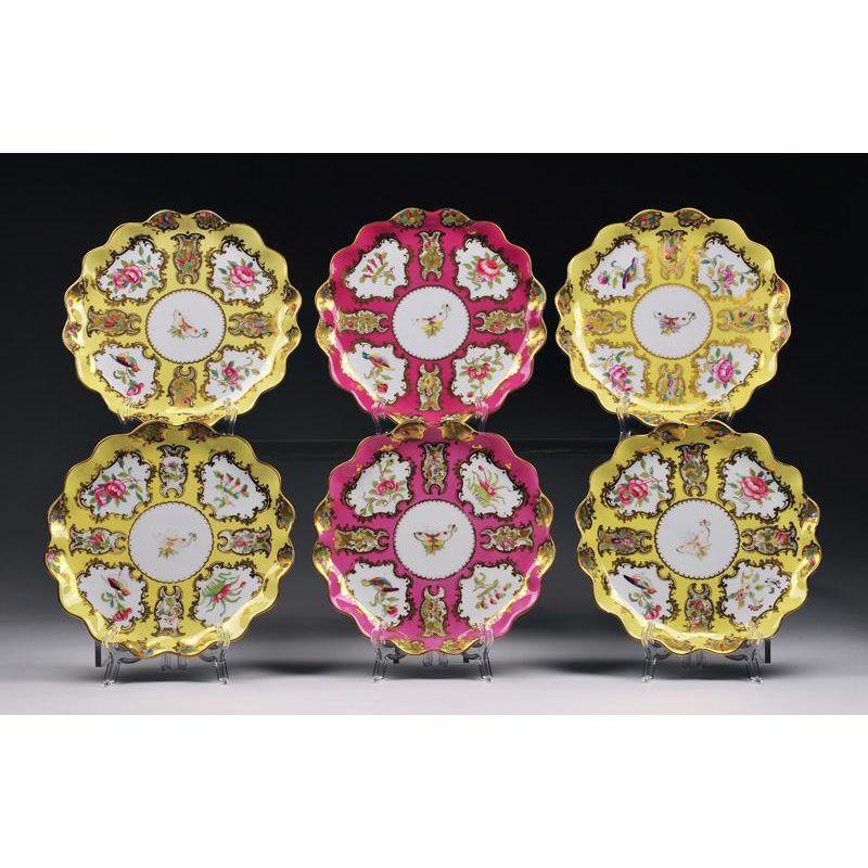 Set of Six Paris Porcelain Cabinet Plates