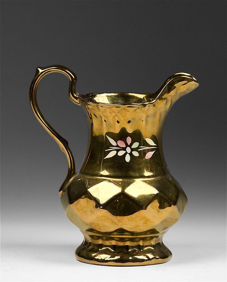 vintage mid 20th c wade lustre pitcher with honeycomb pattern from designcorner on ruby lane. Black Bedroom Furniture Sets. Home Design Ideas