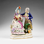 German Porcelain Capodimonte Style Courting Figurine