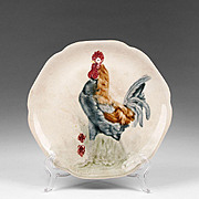 Choisy Le Roi Majolica Dish With Rooster