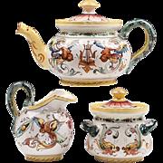 Raffaellesco Style Fratelli Fanciullacci 3-Piece Tea Set
