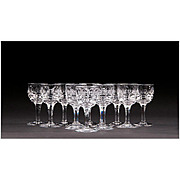 Set of 12 Stuart Crystal Cordials, Pattern Savoy
