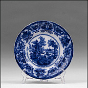 19th C. Flow Blue Staffordshire Pottery Plate