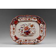 19th C. Indian Ironstone, Transferware Alcock Staffordshire Platter