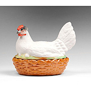 Hen On Basket