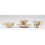 Collection of Four Cantagalli Pieces, Cups & Saucer