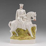 English Staffordshire Figure On Horseback, Lord Kitchener