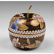 Vintage Japanese Cloisonne Apple Box