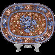 19th C. Staffordshire Ironstone Platter