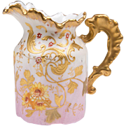 19th C. Limoges Enameled Cream Pitcher