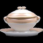 Large Vieux Paris Porcelain Soup Tureen, Cover, With Platter