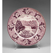 Purple Staffordshire Transfer Ware Souvenir Plate For Cumberland Falls State Park Kentucky