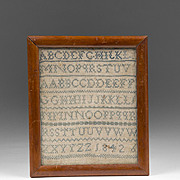 1842 School Girl Needle Work Sampler