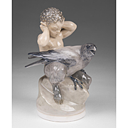 Royal Copenhagen Faun with Crow, 2113