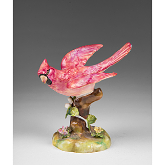 Vintage Crown Staffordshire Porcelain Figure Of Cardinal