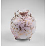 Unmarked Nippon Enameled Rose Bud Vase