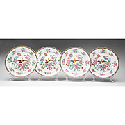 Set of Four Devon Ware Old Bow Pheasant Dinner Plates