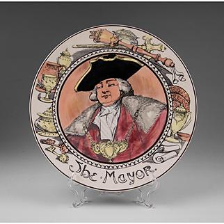 Royal Doulton Rack Plate, The Mayor, T. C. 1050