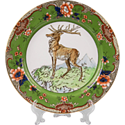 Royal Doulton Game Plate With Deer And Floral Border