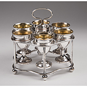 English Sheffield Silver Plate Multi-Egg Cruet