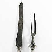 Tiffany & Co. Sterling Handle Carving Set, English King