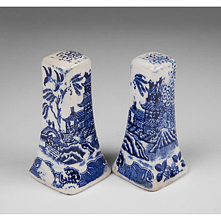 Japanese Blue Willow Salt and Pepper Shakers