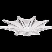 Vintage Baccarat 8 Point Crystal Starfish Bowl