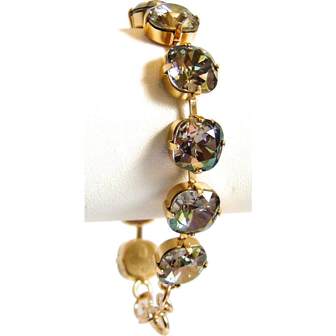 Designs by Ali Gold Plated Brass with Starlight Swarovski Bracelet
