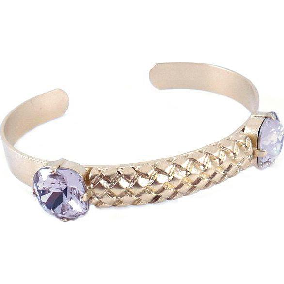 Designs by Ali Matte Gold Plated with Antique Pink Swarovski Bracelet
