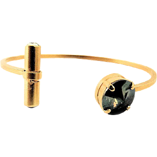Designs by Ali Matte Gold Plated Base and Crystal and Bronze Shade Swarovski Bangle