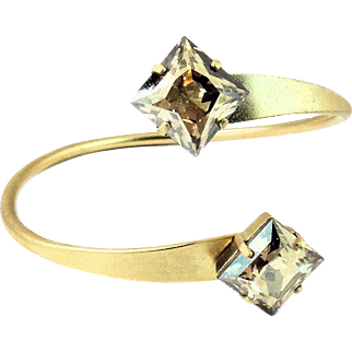 Designs by Ali Matte Gold Plated Base with Golden Shadow Swarovski Bangle
