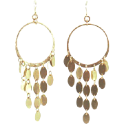 Designs by Ali Brass Dangle Earrings