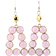 Designs by Ali Rose Quartz Gemstone and Gold Plated with Pyrite Earrings