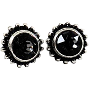 Designs by Ali Antiqued Plated and Silver Night Swarovski Earrings