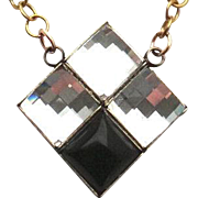 Designs by Ali Brass Chain with Crystal Swarovski, Onyx and Gold Pyrite Necklace