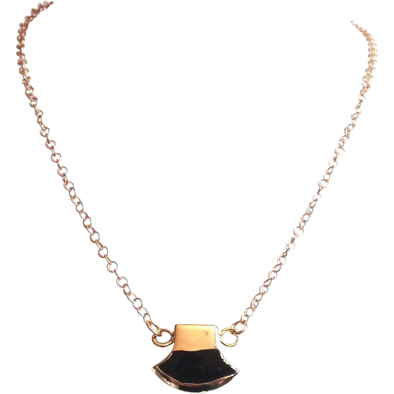 Designs by Ali Matte Gold Plated Chain with Black Onyx and Gold Plated Connector Necklace