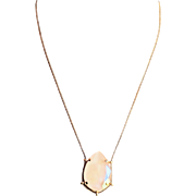 Designs by Ali Matte Gold Plated Brass Chain and Ivory Cream Shiny Swarovski Necklace