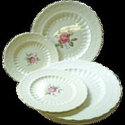 Spode Billingsley Rose plates