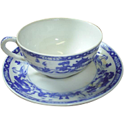 Vintage Nippon Blue/White cup & saucer