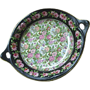 "Carltonware chintz serving bowl, Roses border, ""Ivory Chintz"" pattern"
