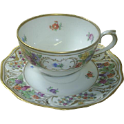 Schumann, Germany cup/reticulated saucer